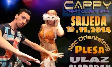 Noć orijentalnog plesa u clubu Cappy/Jelah