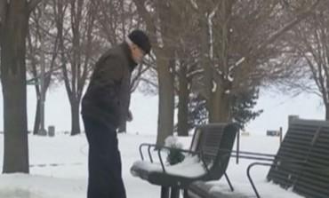 Svakog dana je dolazio u park, ali niko nije slutio zašto! A onda je pao snijeg ... (VIDEO)