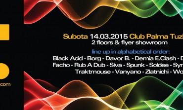 Fobia records, promotivna zabava u tuzlanskom klubu Palma 14. marta