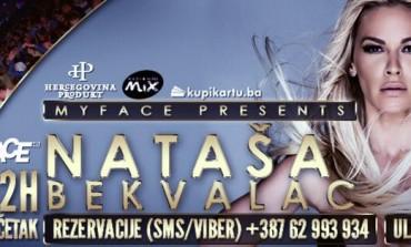 Atraktivna Nataša Bekvalac u petak konačno pred sarajevskom publikom