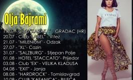 Pjevačica Olja Bajrami svoju ljetnu turneju koja nosi naziv ''Mjesečar'' započinje u Hrvatskoj