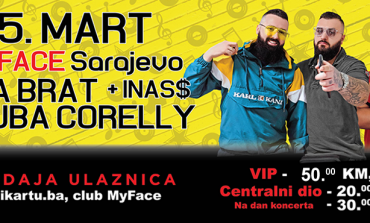 Koncert mjeseca sutra u Sarajevu uz Jalu Brata, Bubu Corellija i mladu repersku nadu Inas