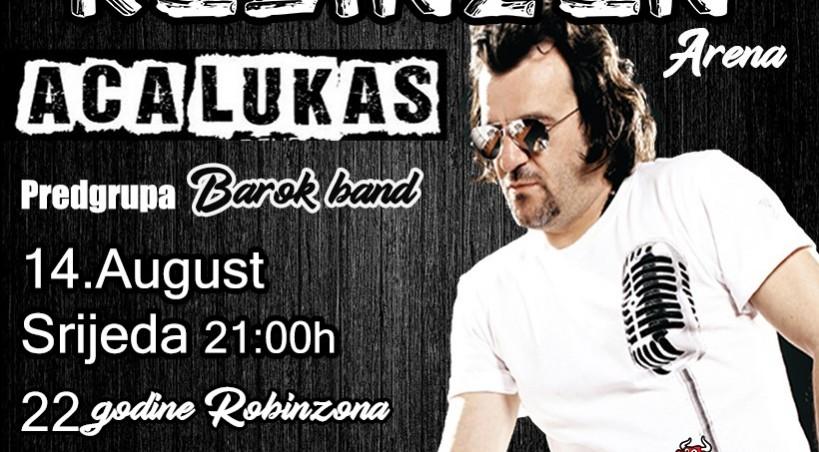 """""""Najveća žurka na Balkanu"""" stiže na jezero Modrac – Aca Lukas 14.avgusta specijalni gost na rođendanskoj zabavi Robinzona"""