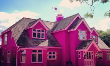 Žena je pretvorila svoju dosadnu kuću u roze palaču sa zanimljivim dvorištem