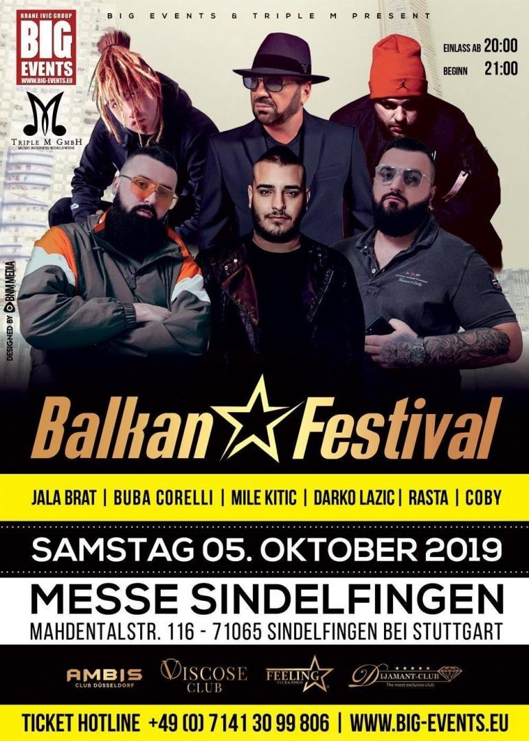 Balkan Festival u Stuttgartu: Na spektaklu nastupaju Jala Brat, Buba Corelli, Rasta, Coby…