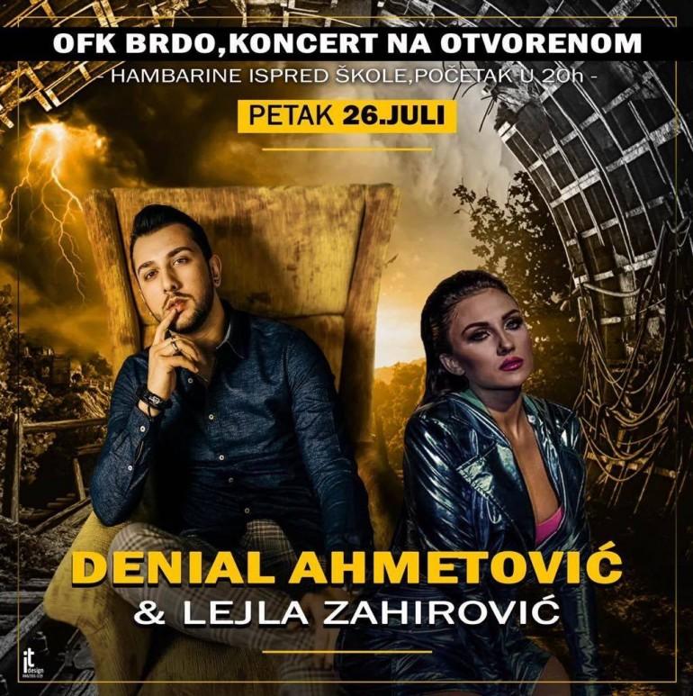 Na velikom humanitarnom koncertu za OFK Brdo nastupa Denial Ahmetović