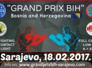 """600 takmičara iz 8 zemalja 18. februara u KSC Ilidža u Sarajevu na kickboxing kupu """"GRAND PRIX BIH 2017"""""""