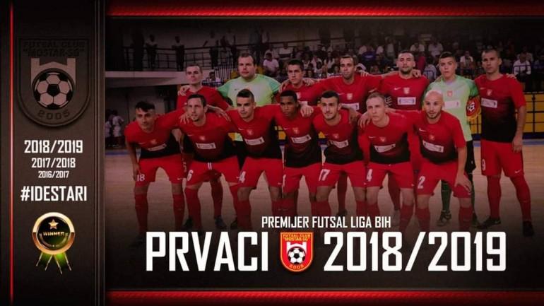 Mostar SG Staklorad treći put prvak BiH u futsalu