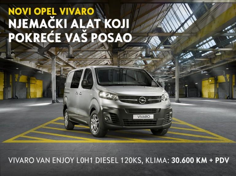 Novi Opel VIVARO – Njemački alat koji pokreće vaš posao