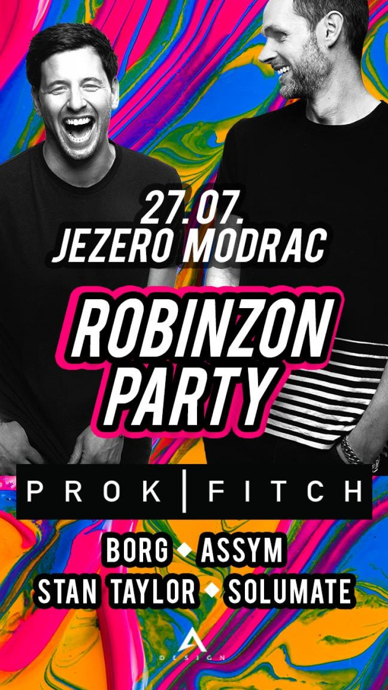 Najpopularniji britanski DJ duo PROK&FITCH u petak na Robinzon Party-ju