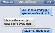 Ono totalno iskren odgovor - SMS DANA