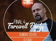 Final Four Farewell Party očekuje vas večeras na splavu Shake'n'Shake, a za odlično raspoloženje biće zadužen GRU