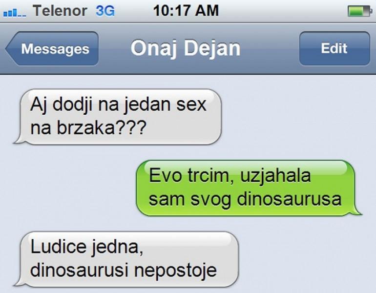 SMS DANA – Kad te djevojka otrese, ali samo tako